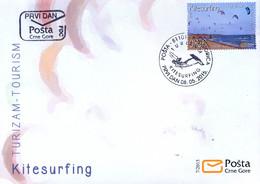 2015 FDC, Tourism, Kite Surfing, Long Beach Ulcinj, Montenegro, MNH - Montenegro