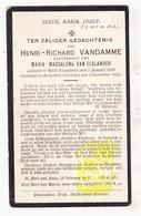 DP Henri R. VanDamme ° Westrozebeke Staden 1896 † 1925 X Maria M. Van Elslander - Images Religieuses
