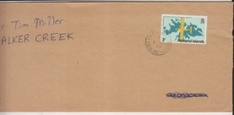Falklands Airmail Cover, Stamps, Air Craft, Map  (A-1196) - Falkland