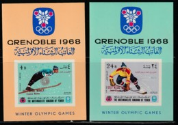 YEMEN - BLOC N°63/4 ** (1968) J.O GRENOBLE 1968 - Surchargés - Hiver 1968: Grenoble