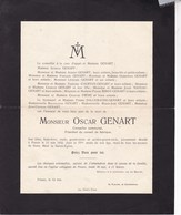 FOSSES Oscar GENART Conseiller Communal 77 Ans 1932 Familles COURTOY BIDOT DALLEMAGNE - Décès