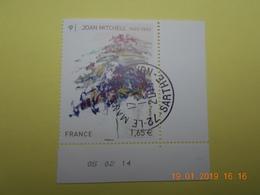 FRANCE 2014   YTN° 4849  JOAN MITCHELL (1925-1992)   TN Oblitéré  Daté - France