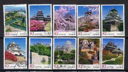 Japan 2016 - Japanese Castles Series 6 - Used Stamps