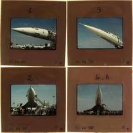 Salon De L'Aéronautique Et De L'Espace Au Bourget 1977 - Série De 24 Diapositives ( 6 Scans) - Diapositives