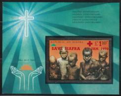 NIGERIA / BIAFRA - BLOC N° 4 ** NON DENTELE (1970) Save Biafra- 9th Jan 1970 - Nigeria (1961-...)