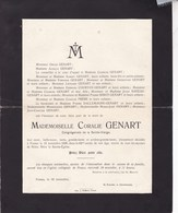 FOSSES Coralie GENART 82 Ans 1930 Familles COURTOY DALLEMAGNE BIDOT - Décès