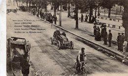 Course 'Paris-Madrid' 1903  -  Libourne  -  Louis Renault Passe Premier, Allees De La Republique  -  CPA - Grand Prix / F1
