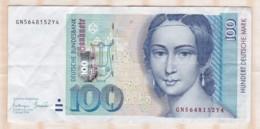 100  Deutsche Mark 1996 - [ 7] 1949-… : RFA - Rép. Féd. D'Allemagne