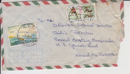 Mozambique Airmail Cover To Pakistan, Stamps Sailing Ship, Sports     (A-1182) - Mozambique