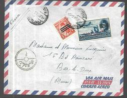 Egypte Lettre Par Avion De 1954 Pour Bar Le Duc - Poste Aérienne