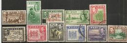 George VI FIJI,  Lot De 11 Beaux Timbres Des Iles FIDJI, Oblitérés, 1 ère Qualité.   Côte 68 Euro - Fiji (1970-...)