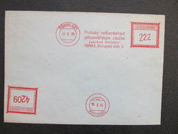Ausschnitt Praha 021 Prazsky Velkoobchod 1954 Frankotype Postfreistempel // L3804 - Briefe U. Dokumente