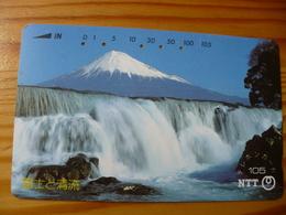 Phonecard Japan 290-177 Waterfall - Japan