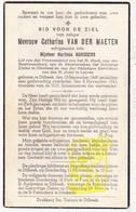 DP Catharina Van Der Maeten ° Dilbeek 1869 † 1943 X Martinus Marissens / Itterbeek - Images Religieuses