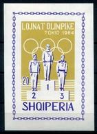 Albanien MiNr. Block 26 B Postfrisch MNH Olympiade 1964 (Y1266 - Ete 1964: Tokyo
