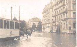 CPA  Suisse, LUCERNE / LUZERN, Flooded Street , Inondation - Carte Photo - Tram 1910 - LU Lucerne
