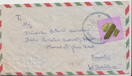 Mozambique Airmail Cover To Pakistan, Stamps, Stone, Minerals    (A-1187) - Mozambique