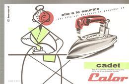 Buvard CALOR Elle A Le Sourire Avec CADET CALOR - Textile & Clothing