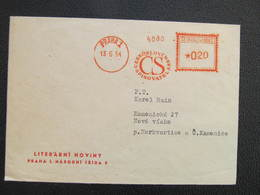 BRIEF Praha 1 Ceskoslovensky Spisovatel 1954 Frankotype Postfreistempel // L3809 - Briefe U. Dokumente