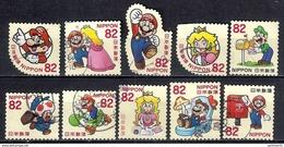 Japan 2017 - Greetings (SUPER MARIO) - Used Stamps
