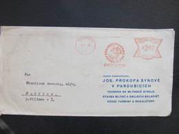 BRIEF Pardubice 2 Prokop 1946 Frankotype Postfreistempel // L3812 - Briefe U. Dokumente