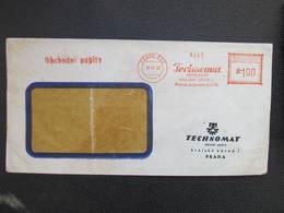 BRIEF Praha 028 Technomat 1952  Frankotype Postfreistempel // L3813 - Briefe U. Dokumente