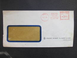 BRIEF Praha 1 Spojene Tovarny 1953  Frankotype Postfreistempel // L3814 - Briefe U. Dokumente