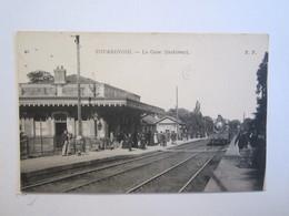 92 Hauts De Seine Courbevoie La Gare Intérieur Train - Courbevoie