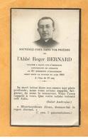 FAIRE PART AVIS  DECES MILITAIRE  ABBE BERNARD JUIN 1940 LIEUTENANT 85 RI VICAIRE SAINT CYR D ISSOUDUN WW2 - Documents