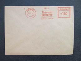 BRIEF Praha 14 Nuselska Mlekarna Milch Milk 1953 Frankotype Postfreistempel // L3817 - Briefe U. Dokumente