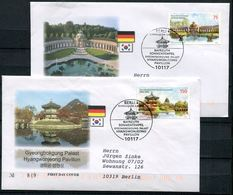 "First Day Cover Germany 2013 Mi.Nr.3013/14 Ersttagsbriefe ""130 Jahre Diplomatische Beziehungen Mit Südkorea ""2 FDC - [7] République Fédérale"
