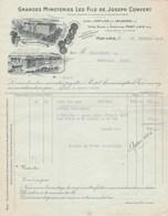 Facture Illustrée 12/2/1942 Minoterie Les Fils De Joseph CONVERT à PONT D' Ain Pour Fromagerie De Druillat - France