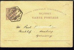 MOZAMBIQUE - 1911 - Carte Entier Postal U.P.U 20 R De Lourenco Marques Vers Hamburg - B/TB - - Mozambique