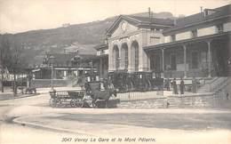 CPA  Suisse, VEVEY, La Gare Et Le Mont Pelerin - VD Vaud