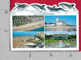 CARTOLINA VG ITALIA - BIBIONE (VE) - Vedutine Multivue Delfini - FUSTELLATA - 12 X 17 - ANN. 2003 - Venezia