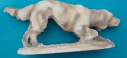 Sculpture D'un Chien Estampillé A SANTINI Longueur 34 Cm - Autres