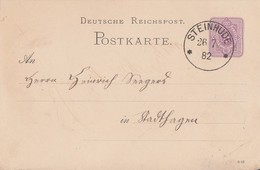 DR Ganzsache K1 Steinhude 26.7.82 - Allemagne