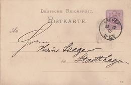 DR Ganzsache K1 Greven 11.12.82 - Deutschland