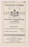 Itinéraires Touring Club De Belgique 1922 Charleroi Philippeville Rocroi Revin Mézières Walcourt Daussois Cerfontaine - Non Classés