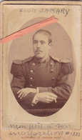 PHOTO MILITAIRE ORIGINALE 19ème CDV-LOUIS SAMARY- PHOTO PERROT Et TOCHON CHAMBERY- - War, Military