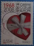 France 2008 : 40e Anniversaire De La Première Greffe Du Coeur En Europe N° 4179 Oblitéré - France