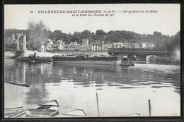 CPA 94 - Villeneuve-Saint-Georges, Pont Du Chemin De Fer - Villeneuve Saint Georges