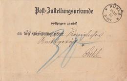 DR Post-Zustellungsurkunde K1 Ruhla 31.10.81 Gel. Nach K1 Suhl 1.11.81 Nachporto Ansehen !!!!!!!! - Deutschland