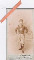 PHOTO MILITAIRE ORIGINALE 1902-GARCON En UNIFORME De ZOUAVE-PETITE CDV-Dim. 8cm X 4,5cm-PHOTO CHAMBERLIN Paris - War, Military
