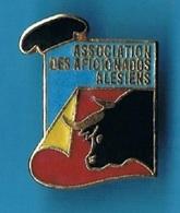 PIN'S //   ** ASSOCIATION / DES AFICIONADOS / ALÉSIENS ** - Bullfight - Corrida