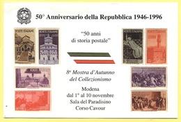 Tematica - Manifestazioni - 1996 - 50° Anniversario Della Repubblica 1946-1996 - 8a Mostra D'Autunno Del Collezionismo - - Manifestazioni