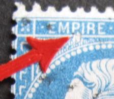 R1684/126 - NAPOLEON III N°22 - VARIETE ➤ Tache Blanche Sous Le P De EMPIRE Avec Papier Transparent - 1862 Napoléon III