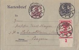 DR Ganzsache Minr.K17 Zfr. Minr.107 UR, 142a Dinglingen 2.8.20 Geprüft - Lettres & Documents
