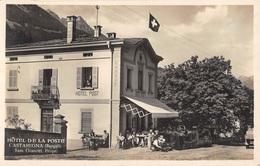 CPA  Suisse, CASTASEGNA, Hotel De La Poste, Carte Photo. - GR Grisons