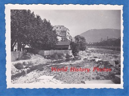 Photo Ancienne Snapshot - NICE - Le Lit Du Paillon - Aout 1937 - Publicité Ripolin Glacis Express - Places